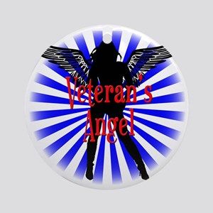 Vet Angel B Round Ornament